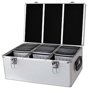 DynaSun CD510Dj Pro–Caja de almacenamiento para CD/DVD MP3510unidades, con fundas y cierre aluminio