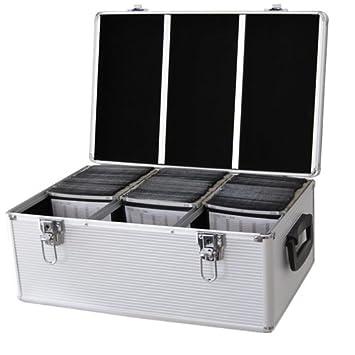 DynaSun CD510 Pro DJK - Caja de almacenaje para CD y DVD, Incluye Fundas y Cerradura, Aluminio.