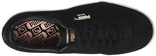 Black Suede Gold Basses Puma White Puma Perf puma Madrid Noir Sneakers rose Femme Wn's wH6zqU
