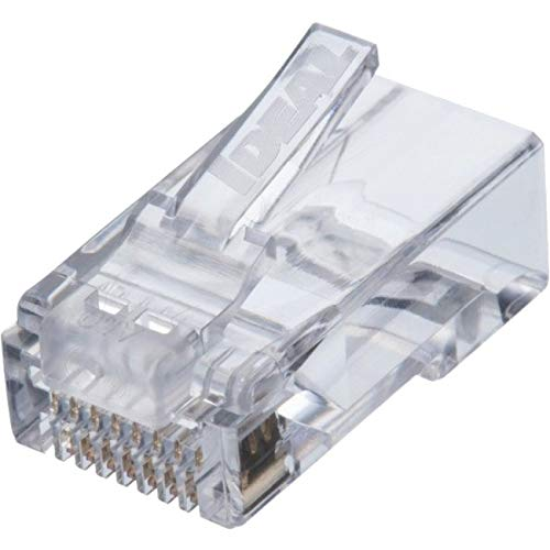 Ideal 85-377 CAT6 Feed-Thru RJ-45 Modular Plugs 100/Bag