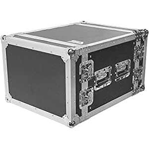 Seismic Audio - SATAC8U - Heavy Duty 8 Space ATA Rack Case - 8U PA DJ Amplifier Flight Road Case - Pro Audio DJ Rack