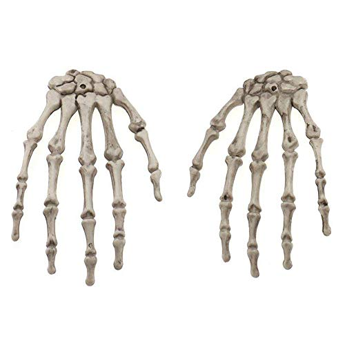 Inxens Realistic Life Size Severed Skeleton Hand for Halloween Decorations, Set of -