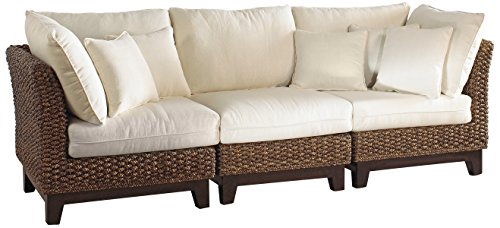 Panama Jack Sunrooms 3 PCPJS-1001-S Sanibel Sofa with Cushions, Sunbrella Canvas Natural