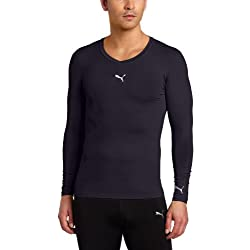 PUMA Men's Pb Lite Long Sleeve Compression V-Neck Tee
