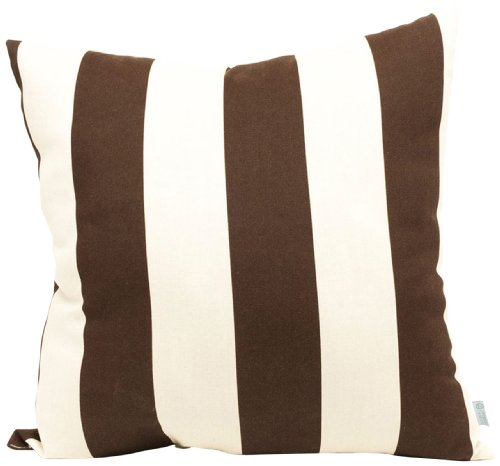 Majestic Home Goods Pillow, X-Large, Vertical Stripe, Chocolate - Made in USA Outdoor Treated Polyester Spot Clean Only - patio, outdoor-throw-pillows, outdoor-decor - 41AROU9s2cL -