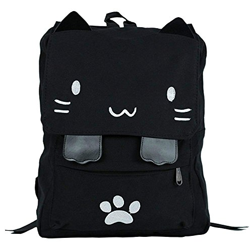 Cute Cat Canvas Book Bag