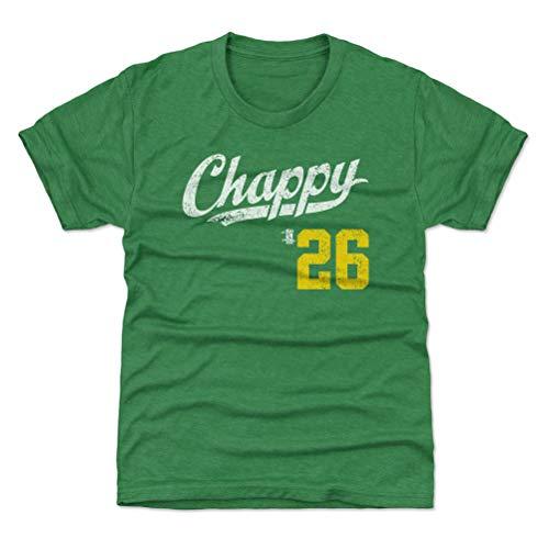 500 LEVEL Oakland Baseball Youth Shirt - Kids Small (6-7Y) Heather Kelly Green - Matt Chapman Chappy Players Weekend Script Y WHT