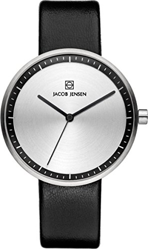 Jacob Jensen 280 Ladies Strata Silver Black Watch