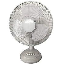 Electric Fan Desktop Turbo Fan 3 Speeds Adjustable Oscillating Pedestal Electric Cooling Fan 12inch (Color : White)