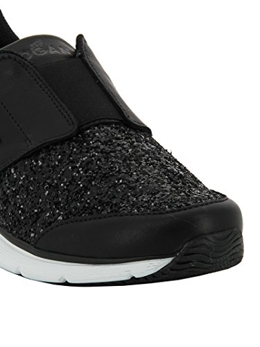 Hogan Slip On Sneakers Donna HXW2540W490ESWB999 Glitter Nero