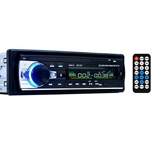 DAYOLY Car Stereo FM Radio MP3 Audio Player | Car Stereo Support Bluetooth Phone with USB/SD MMC Port Car Stereo Audio In-Dash:
