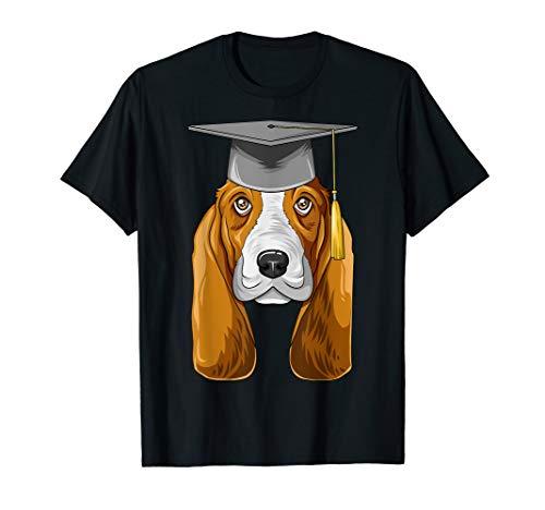 Basset Hound Graduation Graduate Hat Basset Hound T-Shirt