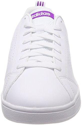 Cass Blanc Femme Fitness F16 W ftwr Chaussures F16 Advantage Cl shock Vs De White Ftwr Purple ftwr White Adidas w1qz80W