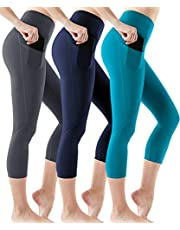 ATHLIO High Waist Yoga Capri Pants, Tummy Control Workout Leggings, Non See-Through Running Tights