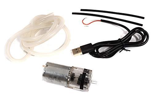INTEGY RC 모델 홉 업 C29901 미니 5VDC370 투명 공기 통기 펌프 USB W   3X5 미리메터 실리콘 튜브 로봇