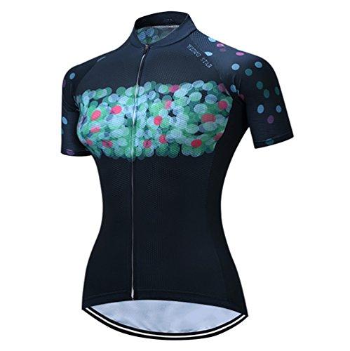 - Mountain Bike Jersey Women, Women's Cycling Jersey Biking Shirt Jacket Tops, Comfortable Quick Dry Light-Blue, XL For Chest(36