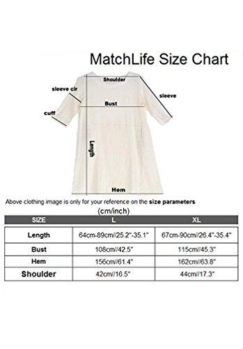 Camiseta Camisa Corta Cuello Para Manga Redondo Mujer Matchlife Larga Chocolate De dFpwFqI