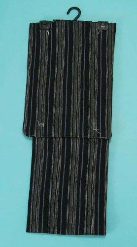 抽象スイング厳密にむさしの物語(綿麻) 浴衣(黒?縞) レディース