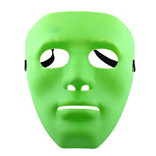 1 Piece Scary Ghosts Halloween Masquerade Diy Adult Party Cosplay Costume Dressing Mask - Green