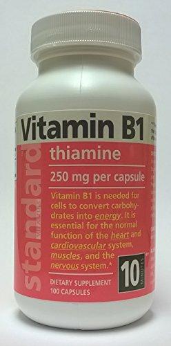 Standard Vitamins Vitamin B1 250mg 100 Capsules