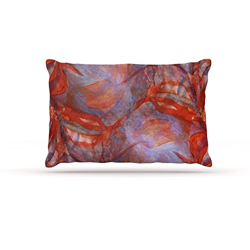 Kess InHouse Theresa Giolzetti Seaweed blueish  Fleece Dog Bed, 50 by 60 , bluee Red