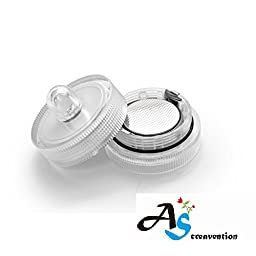 A&S Creavention LED Wedding Mini Light Waterproof Wedding Underwater Battery Sub Lights LED (100, White)