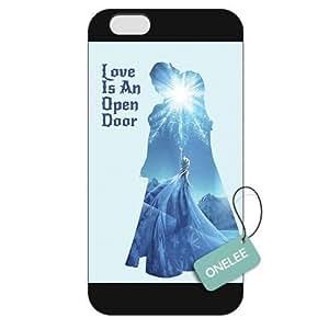 diy case Customized Disney Frozen Case Cover For Apple Iphone 4/4S Hard Plastic Black 07