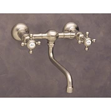 Rohl A1405/44XMTCB, Rohl Bathroom Faucets, Wall Mount Bridge Tap   Tuscan  Brass   Touch On Bathroom Sink Faucets   Amazon.com