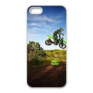 iPhone 4 4s Cubre Blanca Kawasaki Salto del motocrós duro 6D caja del teléfono I4O5DO