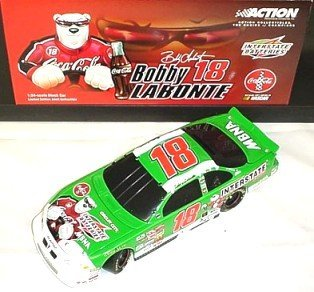 Bobby Labonte 2001 #18 1:24 Scale Black Window Bank Interstate Batteries/Coca-Cola Polar Bear Action Racing Collectables Hood and Trunk Open Limited Production Only 2004 Made