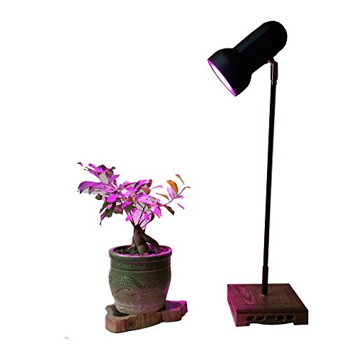 - 30W Led Plant Grow Lights Table Desk Lamp Stand Height 24in with Full Spectrum E27 Growing Blub for Home Indoor Plants Growing