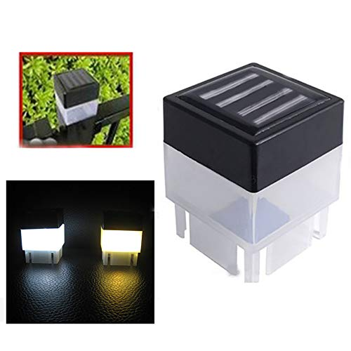 ( Solar Light Clearance , Solar Powered Outdoor LED Square Fence Light Garden Landscape Post Deck Lamp by Little Story (Cool White))