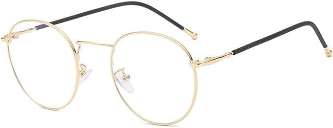 DAUCO Metall Frame Runde Brille Retro Metall Klare Linse Brille Golden Schwarz Silbern Farbe Unisex