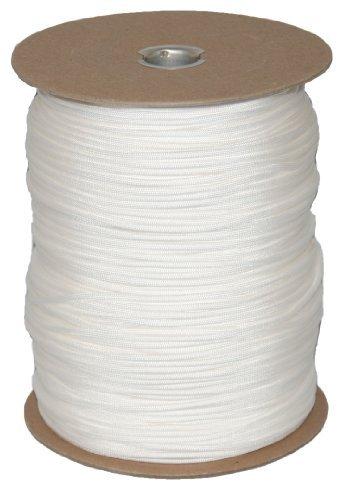 T.W . Evans Cordage 6510W Para cord 1000-Feet Spool, White by T.W . Evans Cordage Co.