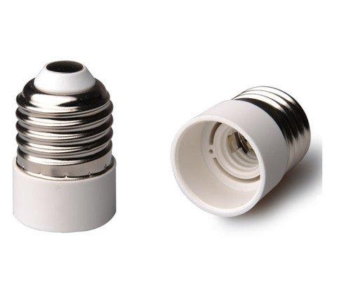 2 pieza E27 a E14 Bombilla Zó calo Adaptador Conversor Capacidad para LED y bombilla de bajo consumo 2 x LEDmich ®