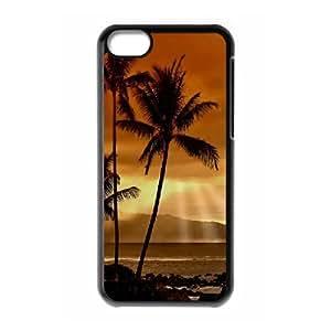 XiFu*Meiiphone 4/4s Case, Mens Designer Sunset Palm Trees Case for iphone 4/4sXiFu*Mei