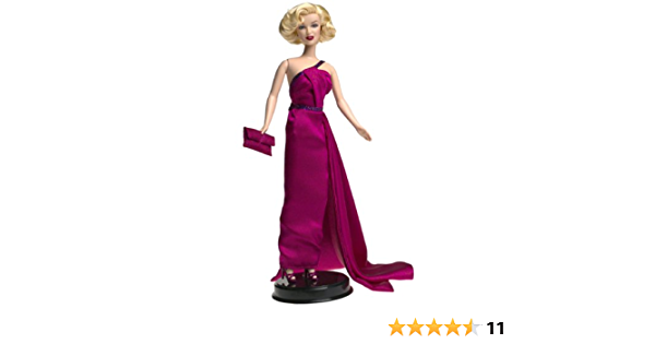 DRESS ONLY DOLL MARILYN MONROE HOW TO MARRY A MILLIONAIRE MAGENTA EVENING GOWN