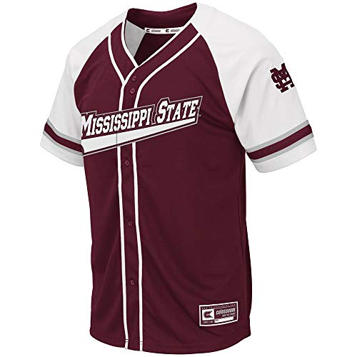 - Colosseum Mens Mississippi State Bulldogs Wallis Baseball Jersey - L