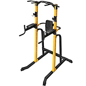 ZENOVA Power Tower Gym Power Multi-Function for Dip Stand Pull up Chin Up, Home Strength Training Gym Equipment,Power Rack