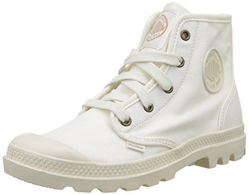 Palladium 92352, Zapatillas Altas de Tela Mujer Blanco (Marshmallow/Marshmallow)