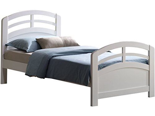 Major-Q White Finish Traditional Mission Style Solid Wood Frame Twin Bed (7019150T) from Major-Q