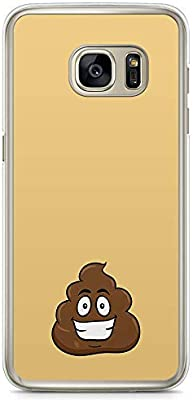 Samsung Galaxy S7 Transparent Edge Phone Case Poop Phone