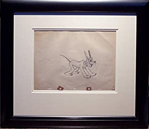 Pluto Rare Original Animation Cel Drawing by Shamus Culhane, 1939 Framed Walt Disney