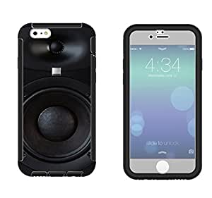 566 - Dj Speaker Cool MUSIC DJ Clubing Design iphone 5 5S Full Body CASE With Build in Screen Protector Rubber Defender Shockproof Heavy Duty Builders Protective Cover