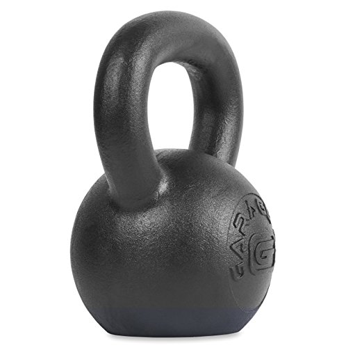 Garage Fit Powder Coated Kettlebells with LB and KG Markings – Strength Training, Functional Fitness, Plyometrics