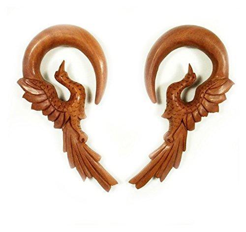 Bandaru Organics Sawo Wood Flying Phoenix Bird Hanger (Gauge Organic Sawo Wood)