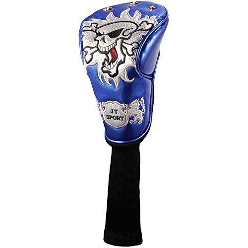 百オプショナルステレオCrtystalレザースカルヘッド刺繍スタイルゴルフクラブヘッドカバーセットプロテクターfor Taylormade Titleist Callaway Ping Cobra Mizuno