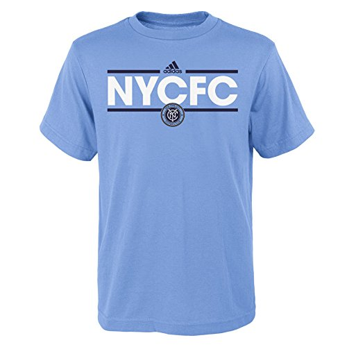 fan products of OuterStuff MLS Nycfc Boys -Dassler Short sleeve Tee, Bahia Blue, X-Large (18)