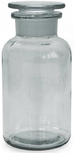 3x farmacia Botella 500ml–Color: Borrar–Incluye tapón de cristal * * * 5frascos botellas farmacia Cristal Stop Fen Botella Laboratorio Laboratorio Cristal Redondo escolar Ter Botella 5frascos