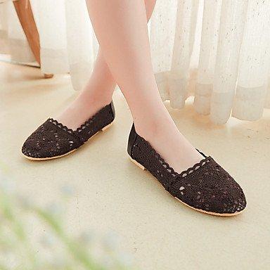 Cómodo y elegante soporte de zapatos de las mujeres pisos primavera verano otoño invierno comodidad algodón Casual Flat Heel otros otros color marrón y negro beige